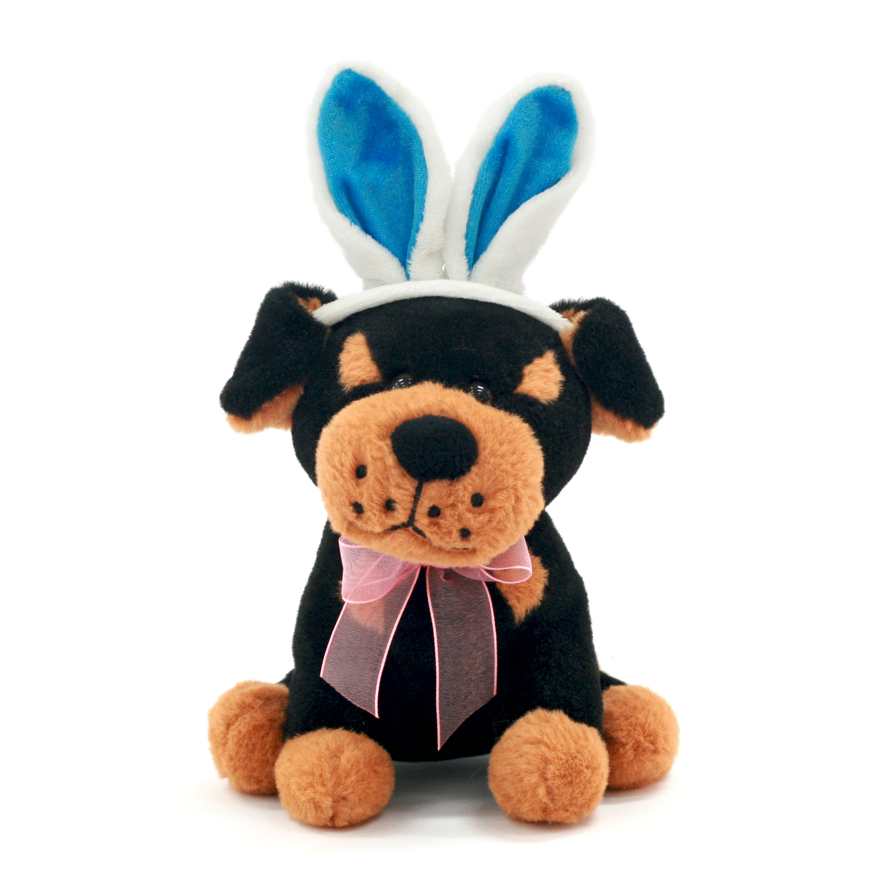 Easter 6 Inch Small Stuffed Animal Plush Toy Blue Ear Puppy