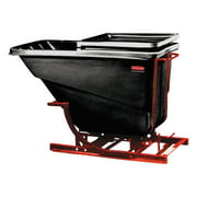 Rubbermaid Commercial Self-Dumping Hopper, 2 1 2 Cubic Yard, 1000 lb Capacity, Black Red by RUBBERMAID COMMERCIAL PROD.