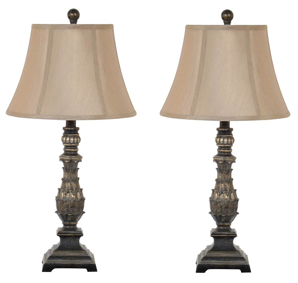 Table Lamp in Antique Gold - Set Of 2