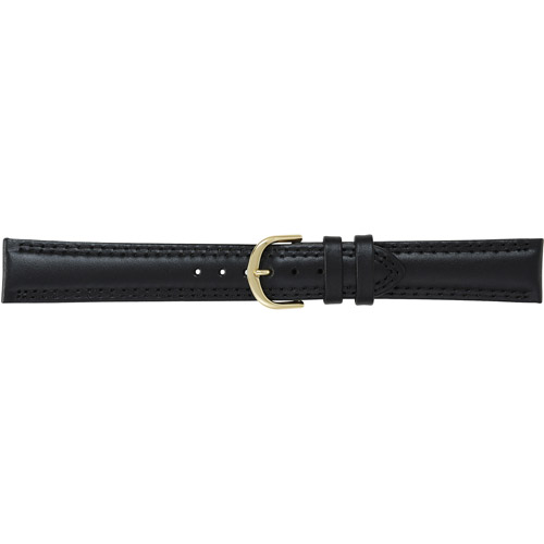 Timex Mens Genuine Calfskin Leather Black 18mm Watch Band