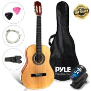 PYLE PGACLS30 - 6-String Classic Guitar - Junior Scale Guitar with Digital Tuner & Accessory Kit (30?? -inch)