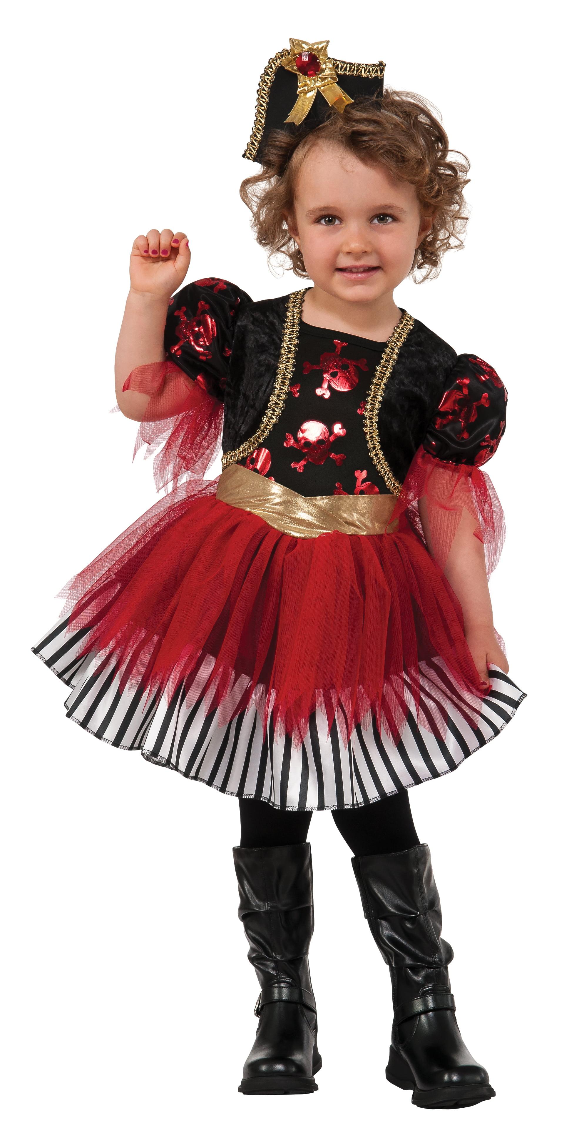 Toddler Girl Treasure Island Pirate Costume by Rubies 610846, Medium by Rubies