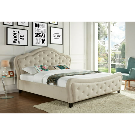 Best Quality Furniture Upholstered Bed, Multiple Sizes, Multiple Colors ()