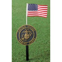 """29"""" Military Marker Stakes With America Flag - Marines"""
