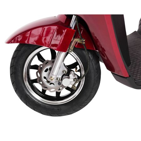 T4B LU-500W Mobility Electric Recreational Outdoors Scooter 48V20AH with Three Speeds, 14/22/32kmph - Red - image 5 de 14