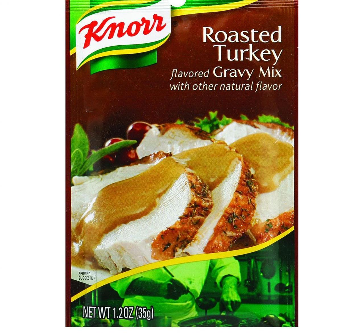 Knorr Gravy Mix - Roasted Turkey Flavored - 1.2 oz - Case...