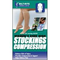 Bilt-Rite Mastex Health 10-70100-LG-2 15-20 mm. Hg Womens Knee High Stockings, Sand - Large