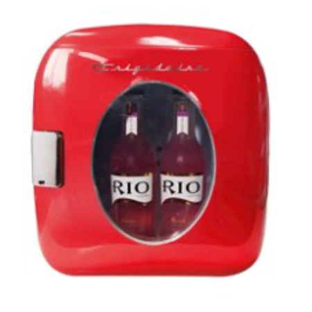 Frigidaire Portable Retro 12-Can Mini Fridge EFMIS462, Red
