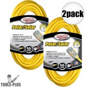 Coleman Cable 01688 50' 12/3 SJEOW Polar/Solar Extension Cords 2-Pack