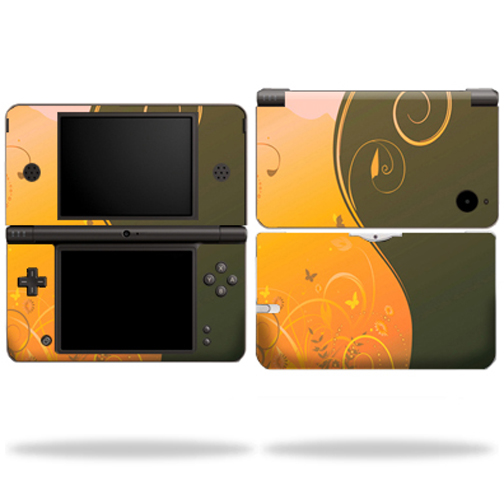 Mightyskins Protective Vinyl Skin Decal Cover for Nintendo DSi XL wrap sticker skins Butterfly Garden