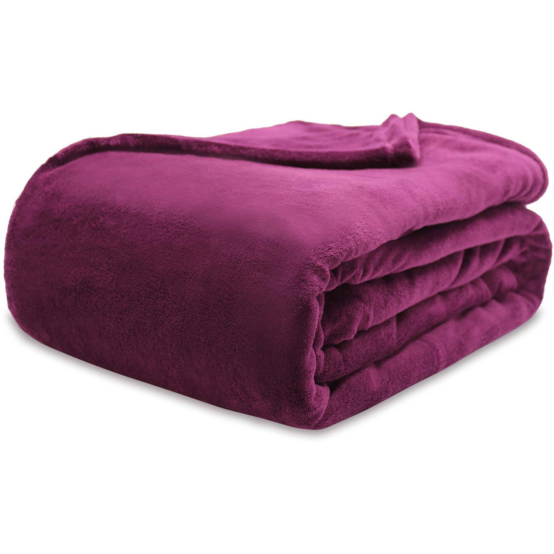 Mainstays Ms Plush Blanket-purple Oxford-fq