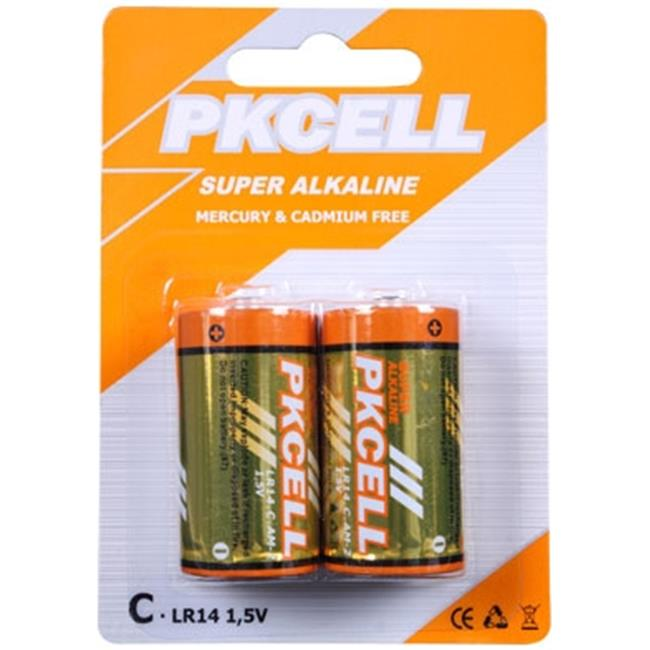 Pkcell Lr14 2b 1 5v Alkaline C Size Battery 44 Pack Of 2