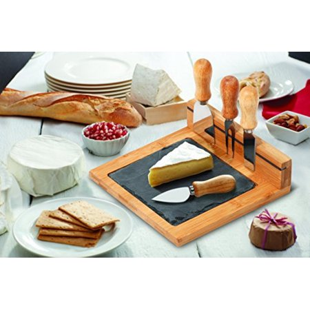 Slate Cheese Board Sets by Chef's Basics Select (6 Piece Set) ()