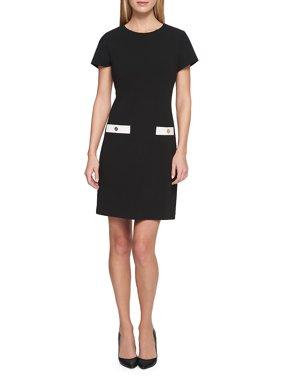 Scuba Crepe Pocket Dress