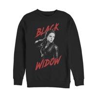 Marvel Men's Avengers: Endgame Grayscale Black Widow Sweatshirt