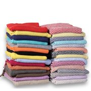 Affinity Home Collection 60-inch 100-percent Soft Cotton Diamond Weave Throw (Set of 2)