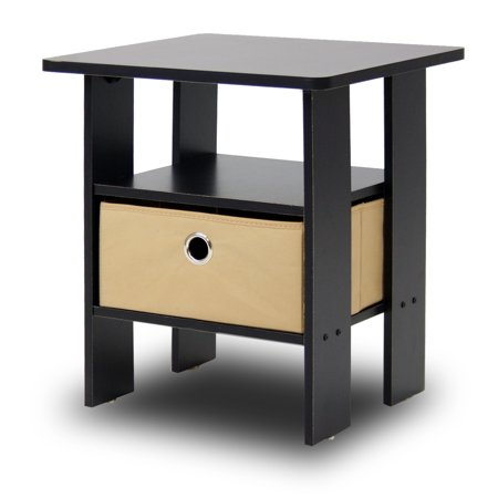 Furinno Andrey End Table Night Stand with Bin Drawer, Multiple