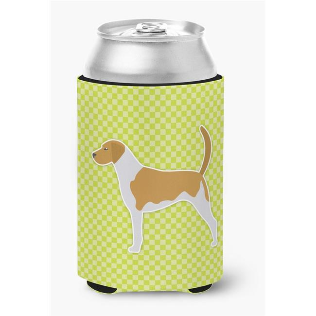 American Foxhound Checkerboard Green Can or Bottle Hugger - image 1 of 1