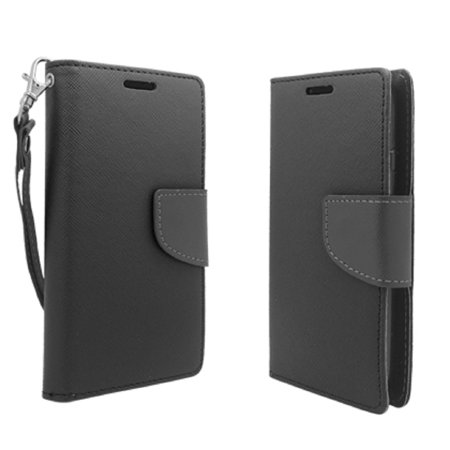 official photos 4ae67 08243 SOGA PU Leather Magnetic Flip Wallet Case for LG Ultimate 2 / L41C / L70 -  Black