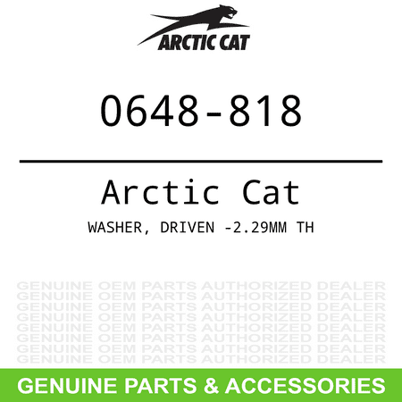 OEM 2.29mm Thick Driven Washer Arctic Cat ZR XF Sno Pro 3000 4000 6000 8000