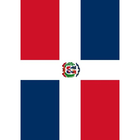 The Dominican Republic Garden flag