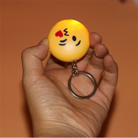 Creative Smiley Emoji Fool's Day Funny & Prank Tools, Electric Shock Toys with LED Lights and Laser Heart eyes - image 2 de 6