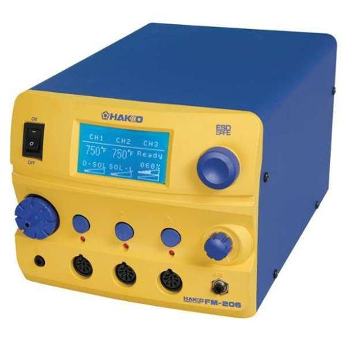 HAKKO FM206-55 Rework Station,410W,120V,3 Port