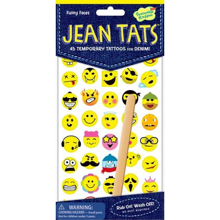 Peaceable Kingdom Jean Tats Animal Friends Temporary Tattoos for Fabric -