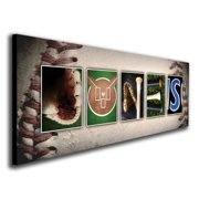 Personalized Baseball Name Wall Art, Live Previews, Choose Each Photos, Multiple Options