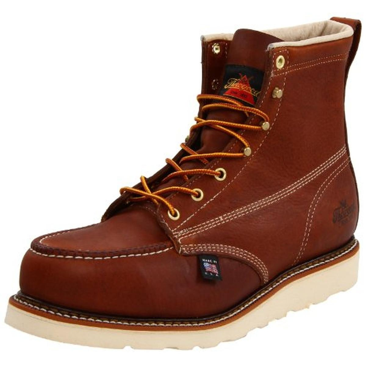 "Thorogood Men's American Heritage 6"" Wedge Work Boot Steel Toe - 804-4200"