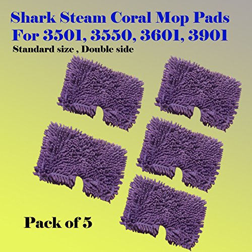 ESC ® Pack of 1/3/5 Coral Standard Size Steam Mop Replace...