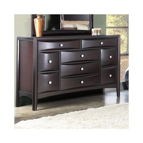 Bundle-71 Alpine Furniture Laguna 9 Drawer Dresser (Set of 2)