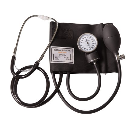 HealthSmart Manual Home Blood Pressure Monitor with Standard Cuff and Stethoscope, (Best Manual Blood Pressure Monitor)