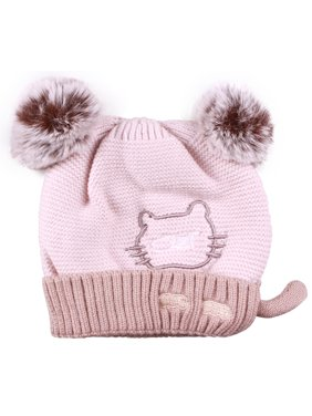 fe623431 Product Image Enimay Women's Winter Cable Knitted Faux Fur Cat Ear Beanie  Hat 0413 - Khaki