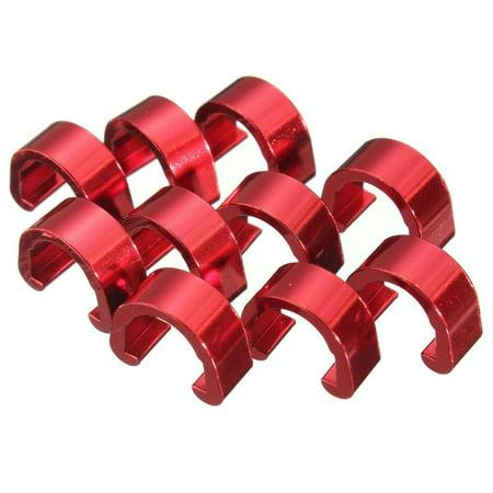 Thzy C Clip 10Pcs Snap Tubes Brake Hose Guide Mtb Bmx Bike Color  Red