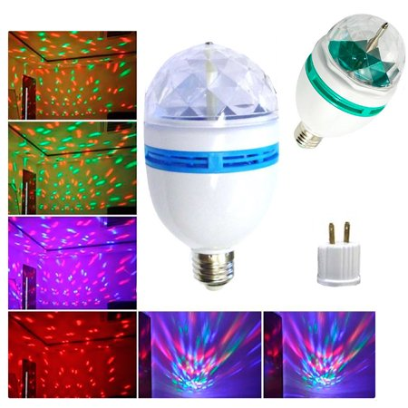 LED Rotating Light Lighting Full Color Disco Party Crystal Ball Lights Effects (Halloween Lighting Effects)
