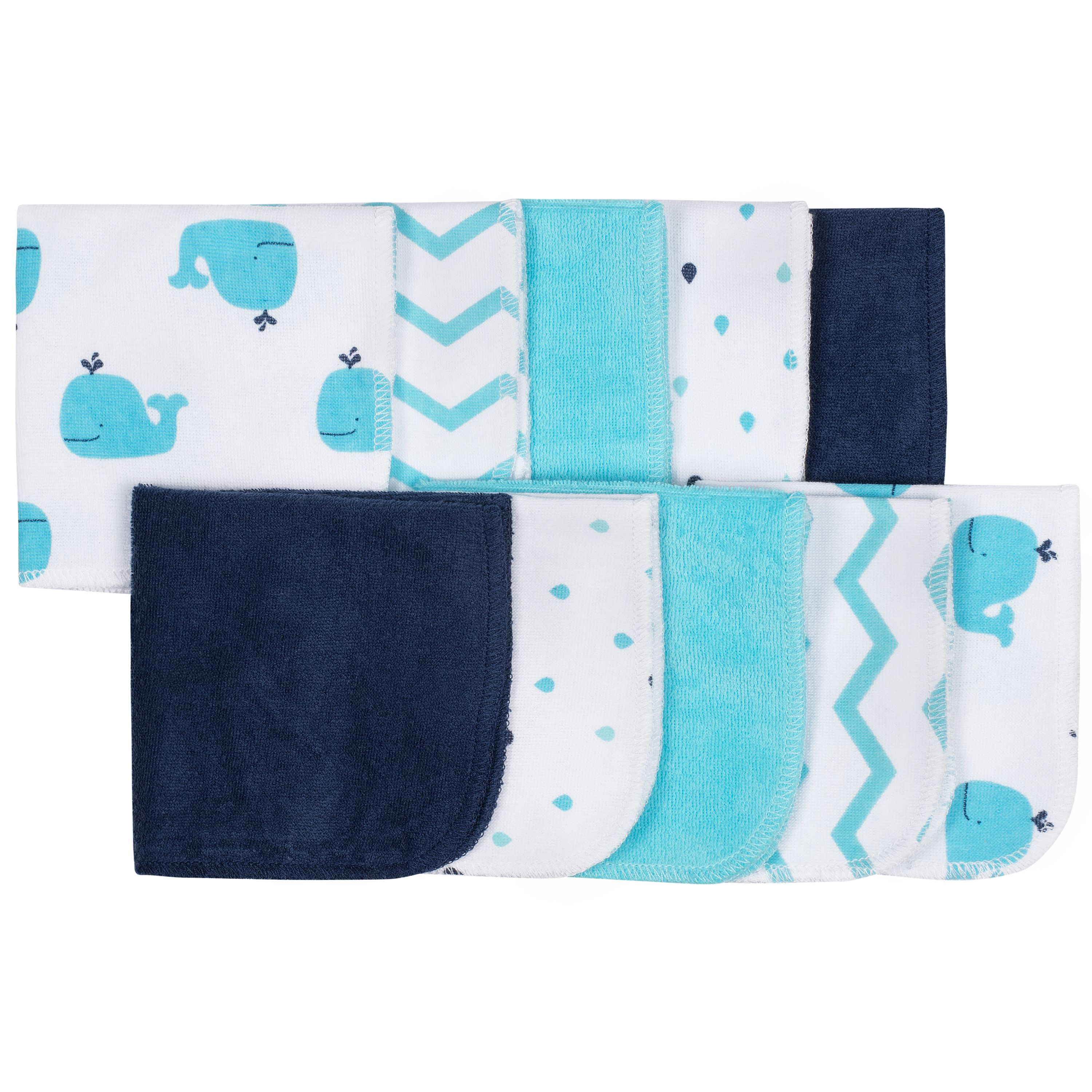 Baby Assorted Terry Washcloths, 10 Pack