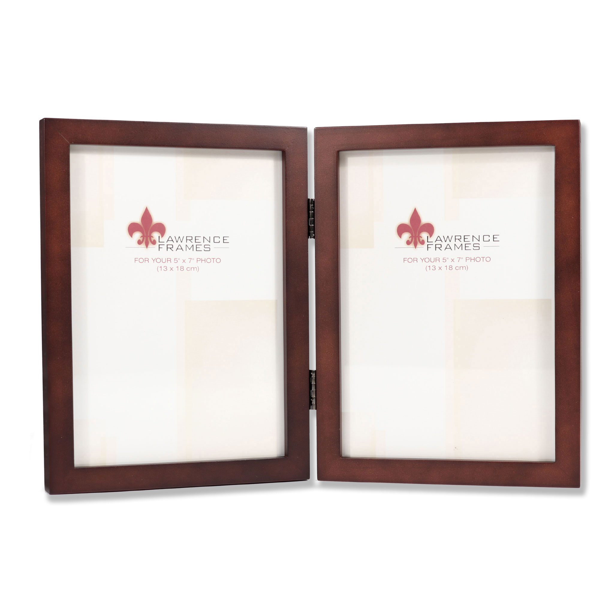 755957d Espresso Wood 5x7 Hinged Double Picture Frame