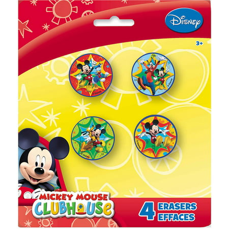 Disney Mickey Mouse Eraser Party Favors, 4ct