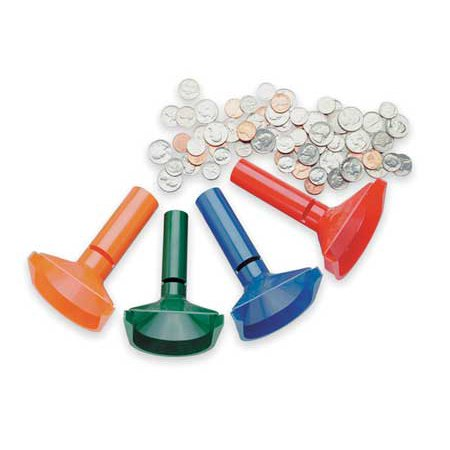 Mmf Industries 224000400 Plastic Coin Counting Tubes - Pack of 4