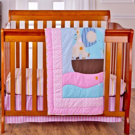 Dream On Me Sea Friends 2-Piece Reversible Portable Crib Bedding Set
