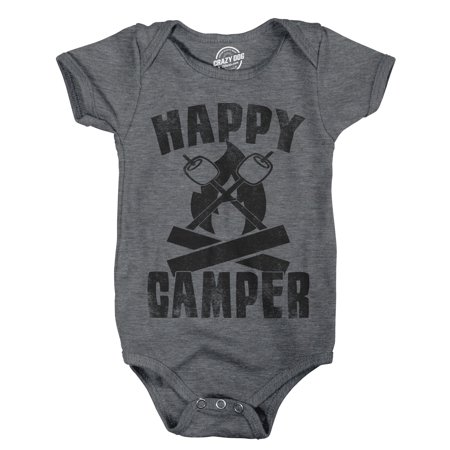 Creeper Happy Camper Adorable Outdoors Adventure Bodysuit For Infant