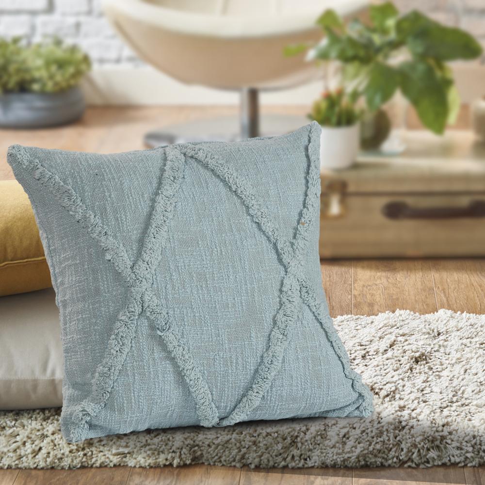 LR Home Diamond Bliss Pastel Blue 18 inch Standard Throw Pillow