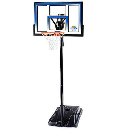 "Lifetime 48"" Shatterproof Portable One Hand Height Adjustable Basketball System, 51550"