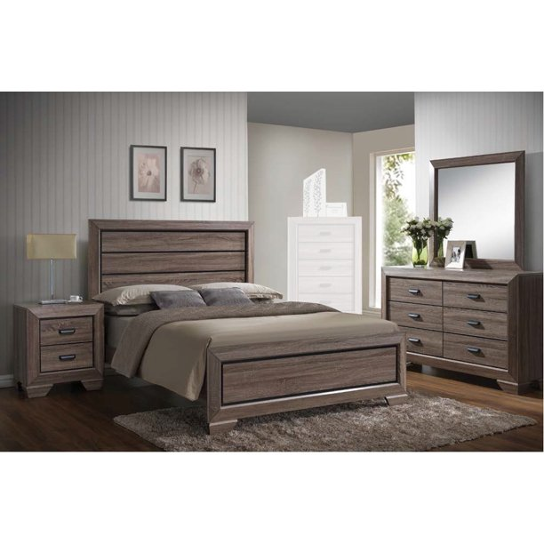 Lyndon 4pcs Weathered Gray Grain Queen Bedroom Set