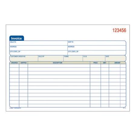 Adams 3-Part Carbonless Invoice Book
