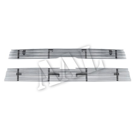 Ss Billet Grill - AAL REPLACEMENT BILLET GRILLE / GRILL INSERT For 2002 2003 2004 2005 CHEVY TRAILBLAZER LT/LS/SS 2PCS UPPER REPLACEMENT 7/ 10 BARS