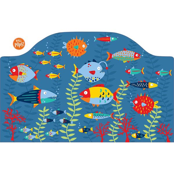 WallPops Fish Tales Twin Headboard