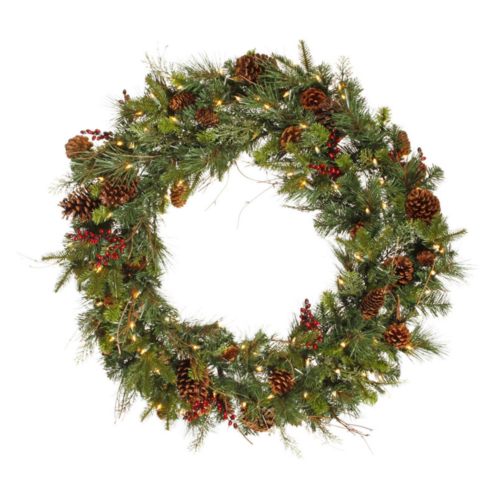 "Vickerman 36"" Cibola Mix Berry Wreath Dura 100CL"