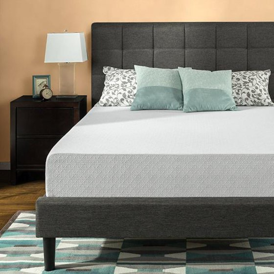 zinus 12 inch gel infused green tea memory foam mattress queen. Black Bedroom Furniture Sets. Home Design Ideas